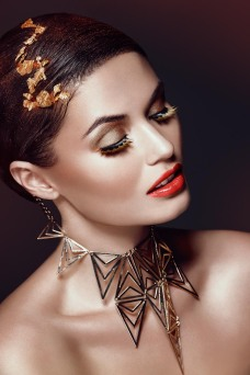 Kass Dea Beauty Photographer - Gold leaf